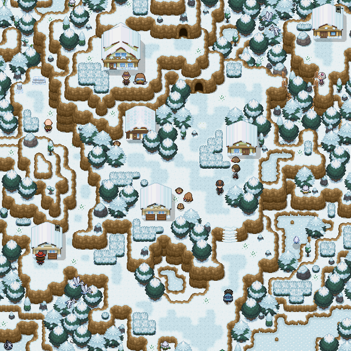 Pokémon-Map: Mapping WB45  –  Map 2: Schnee