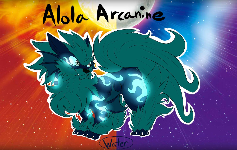 Pokémon-Zeichnung: Alola Arkani