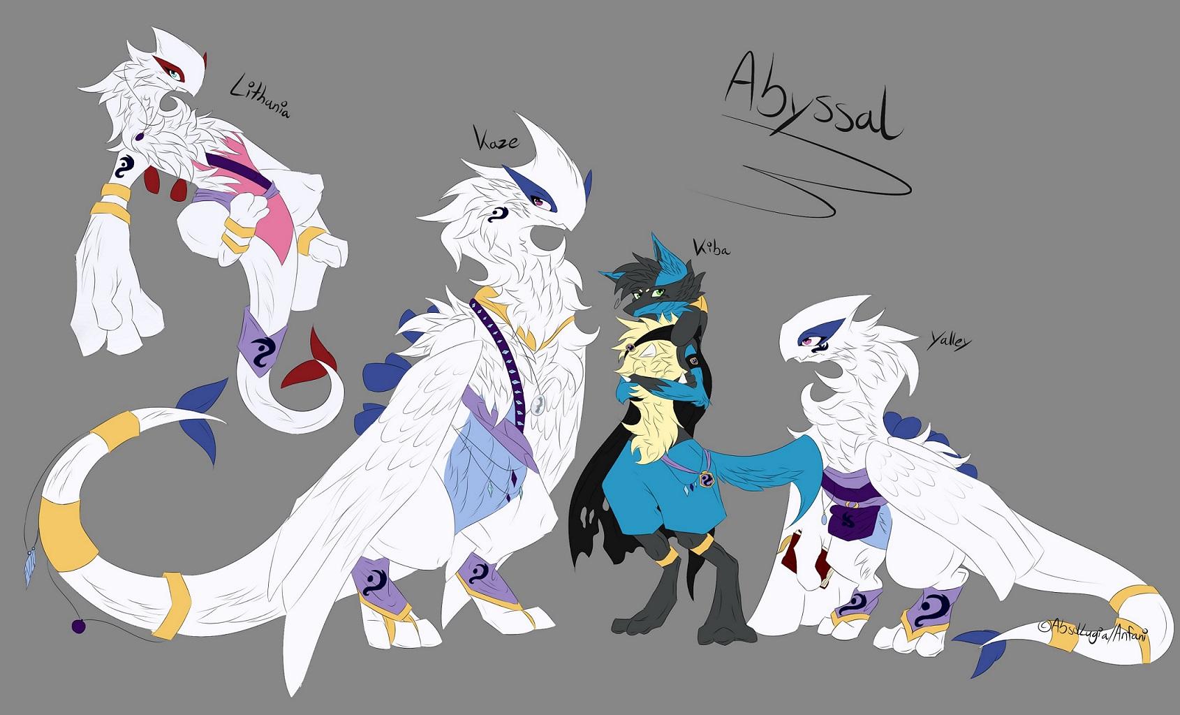 Pokémon-Zeichnung: Familie Abyssal