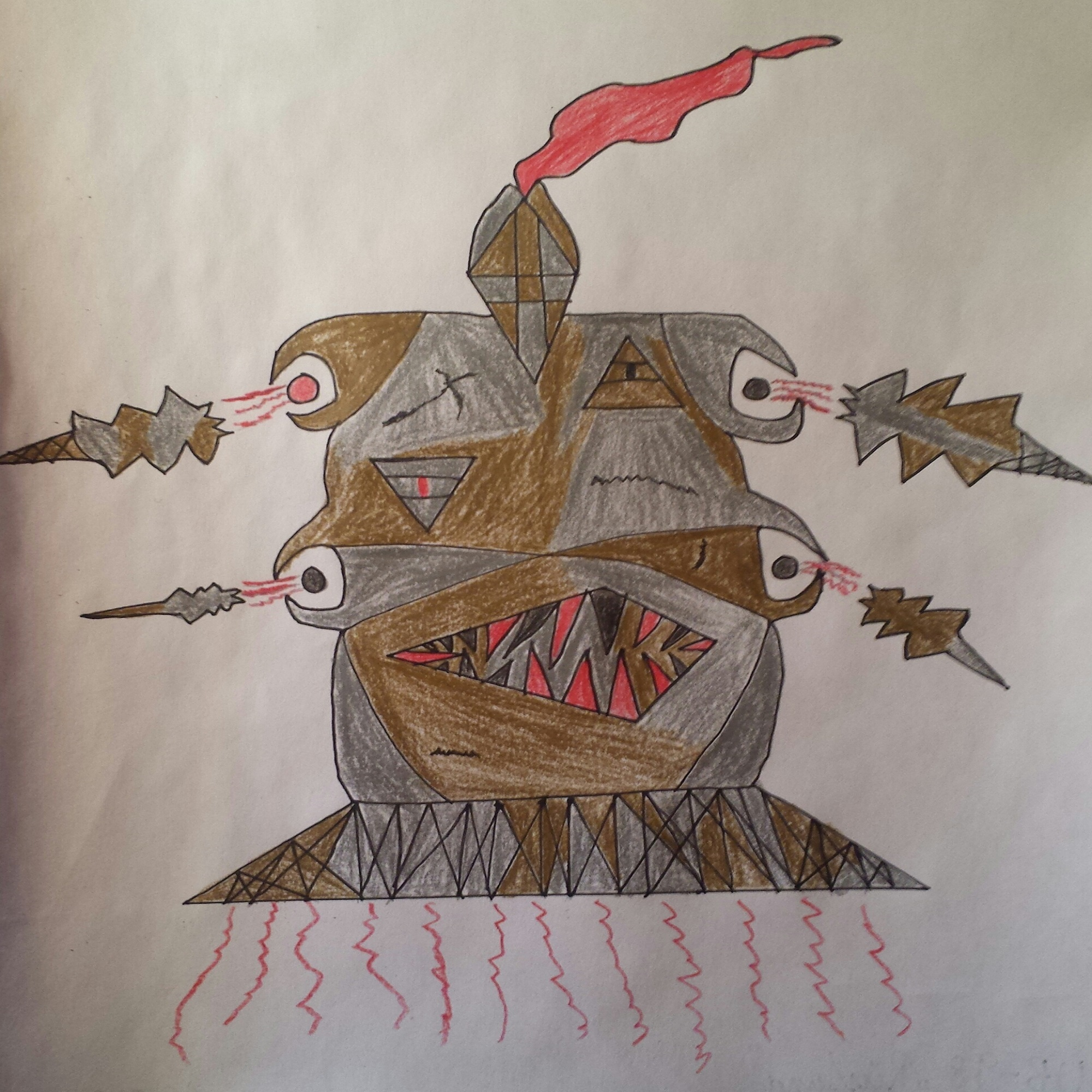 """Pokémon-Zeichnung: UB-98 """"Rüstung"""""""