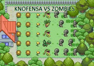 Pokémon-Map: Knofensa vs. Zombies