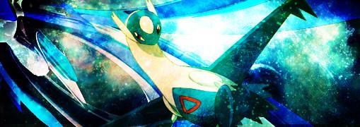 Pokémon-Fanart: Latios am Sternenhimmel