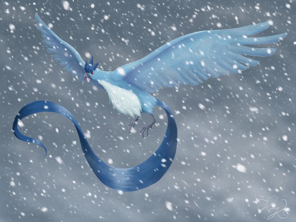 Pokémon-Zeichnung: Arktos, König des Schneesturms
