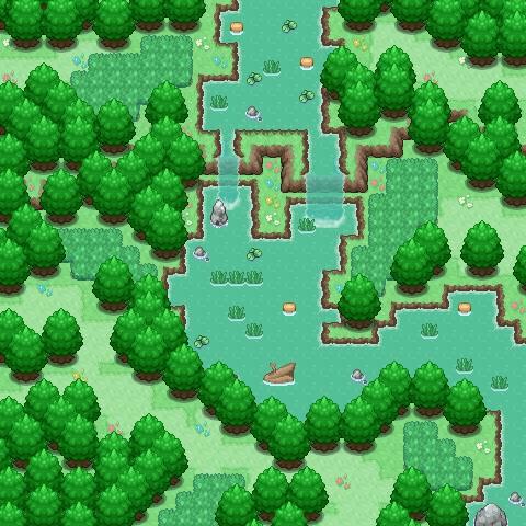 Pokémon-Map: Starter-Lebensraum