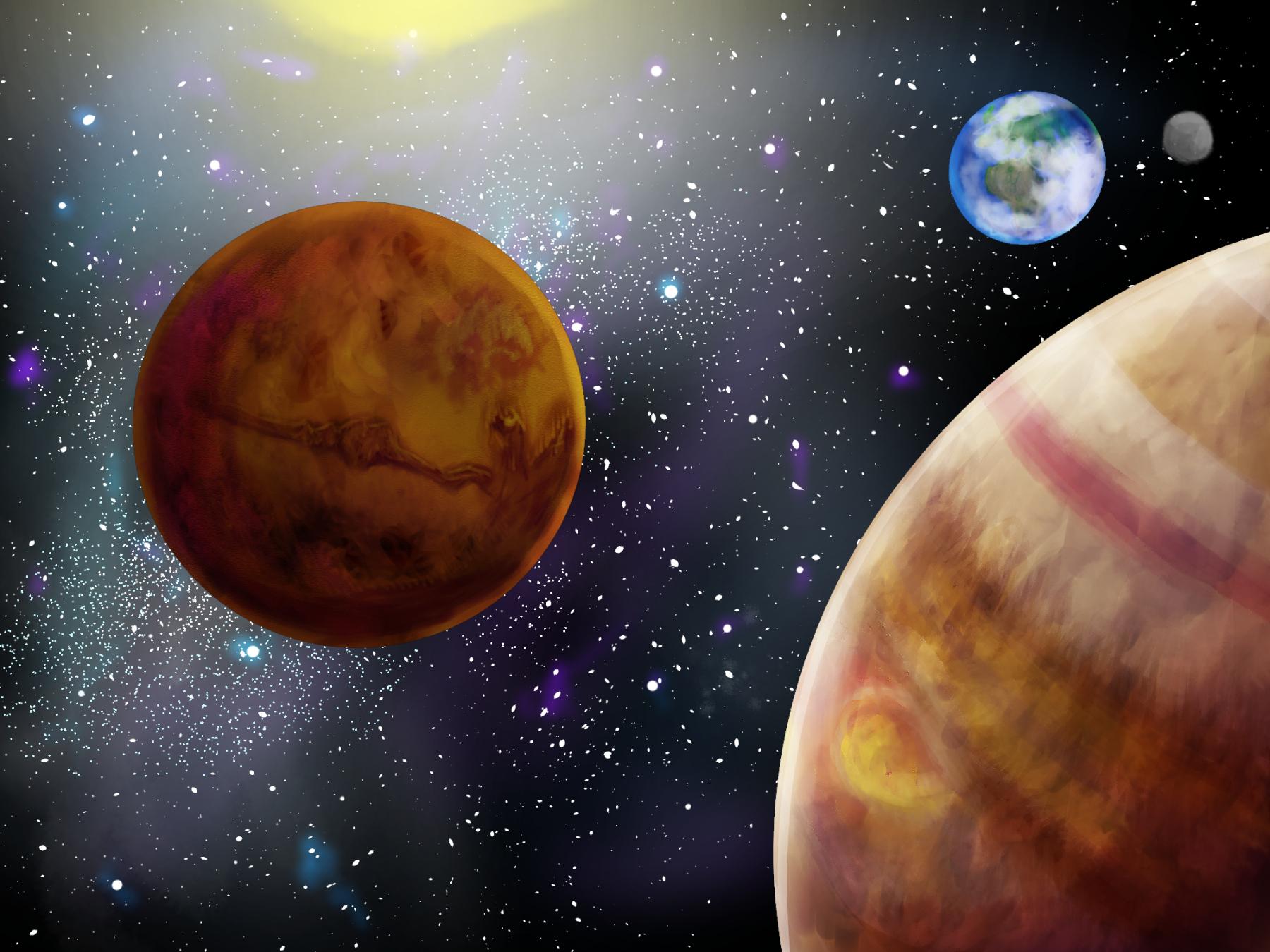 Zeichnung Weltall Und Planeten O O Pok 233 Mon Fanart