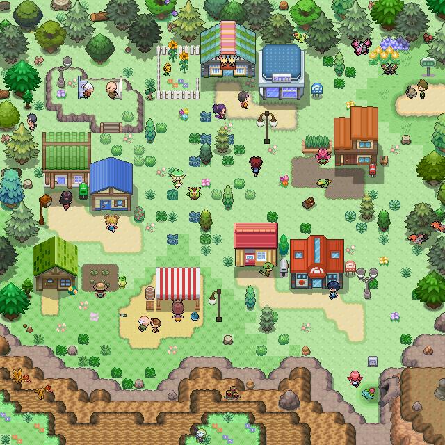Pokémon-Map: Dorf à la Tilesetabuse, Mapping-Wb #36