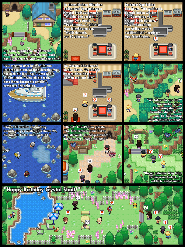Pokémon-Map: Geburtstags-Comic Crystal Stadt