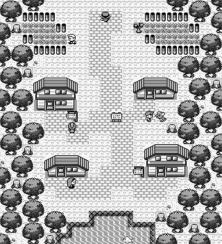 Pokémon-Map: Zweiblattdorf Retro