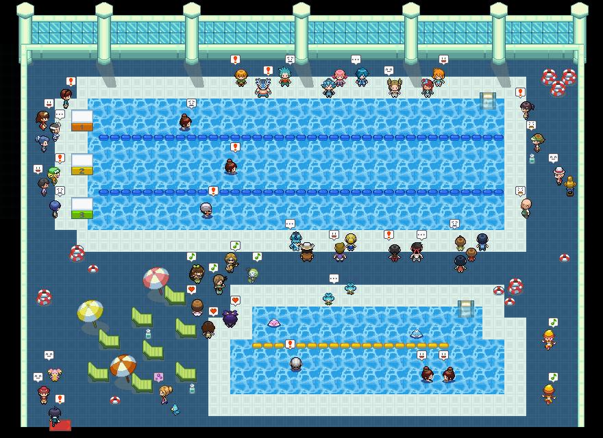 Pokémon-Map: Die Schwimm-Meisterschaft