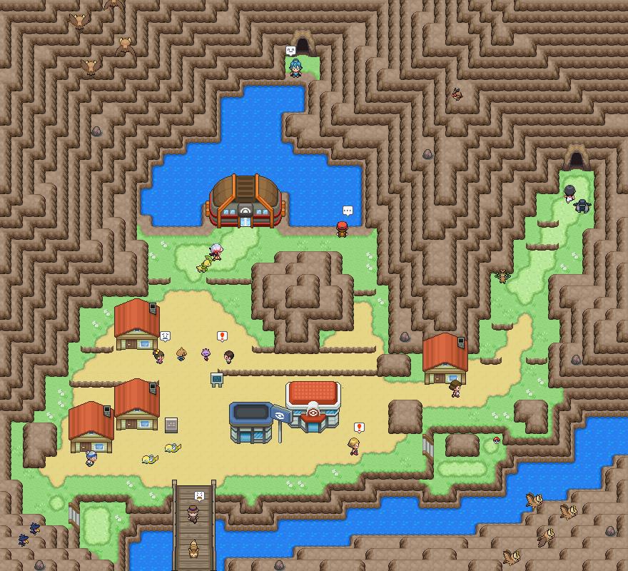 Pokémon-Map: Ebenholz City Remake
