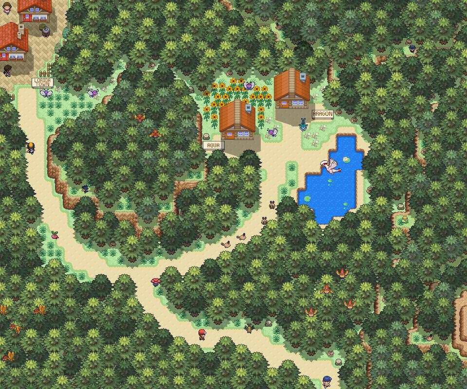 Pokémon-Map: Route to Lorida Town