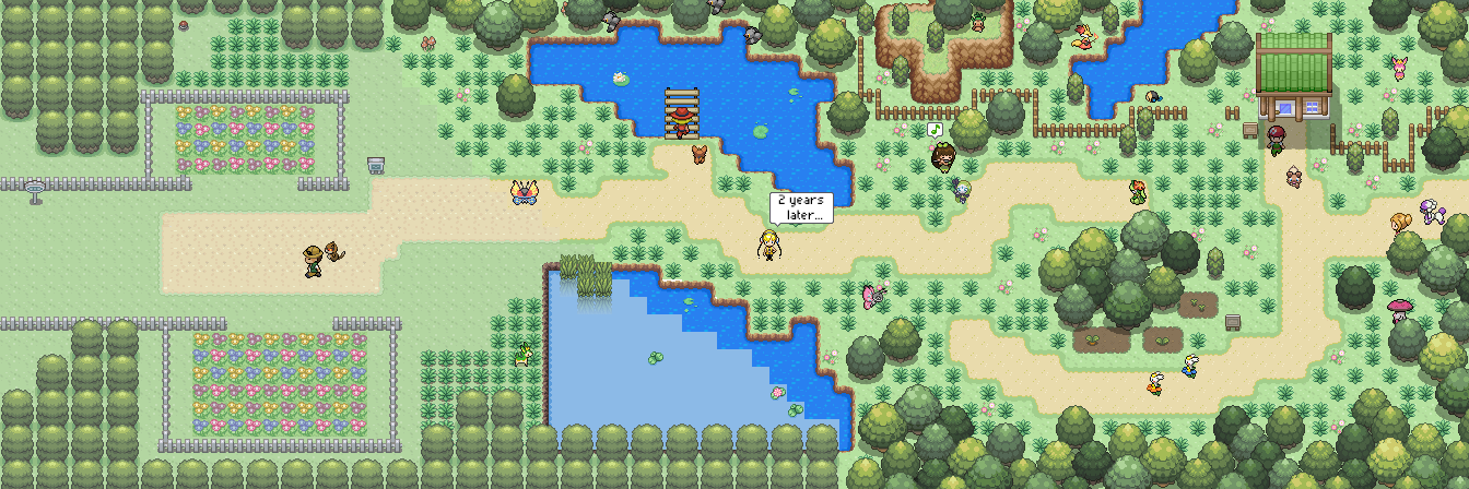 Pokémon-Map: 2 Jahre Mapping - Route 117 Hoenn Remake