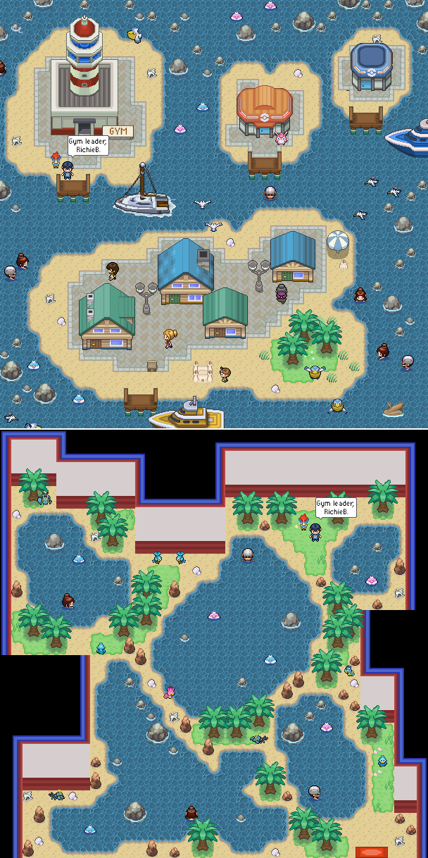 Pokémon-Map: Little Island + Arena