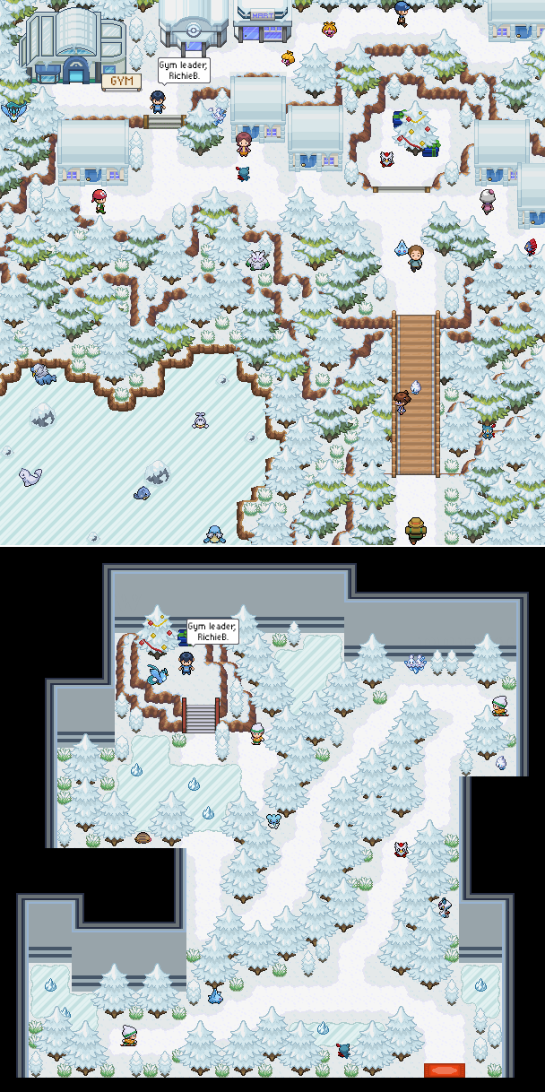 Pokémon-Map: Christmas Town + Arena