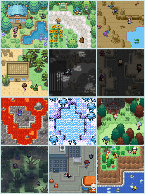 Pokémon-Map: Normal Icon Commissions #1