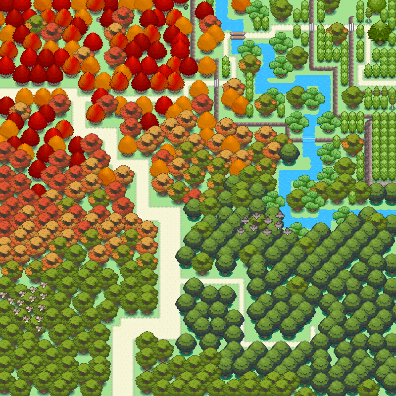 Pokémon-Map: Bunter Wald