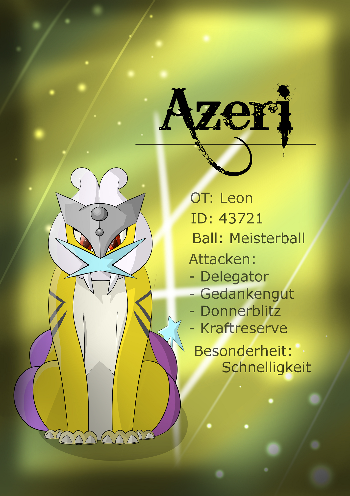 Pokémon-Zeichnung: Schatz 1: Azeri
