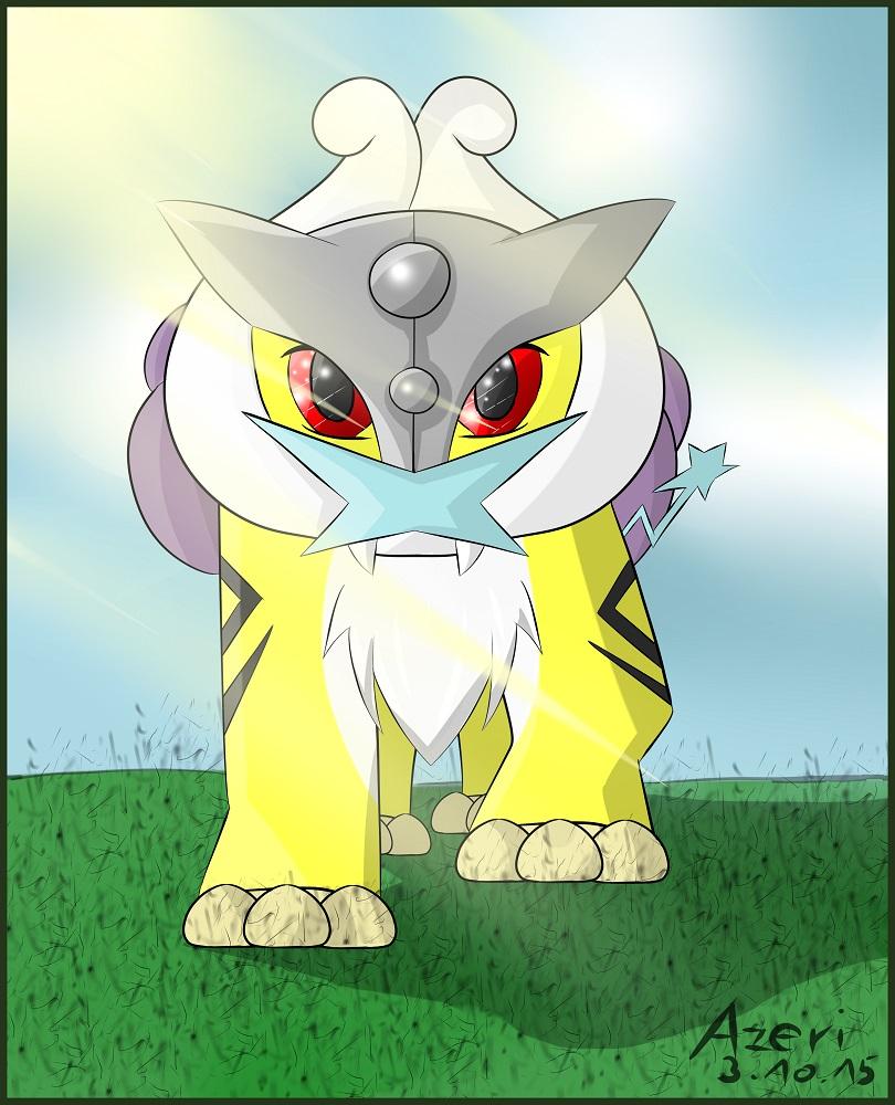 Pokémon-Zeichnung: Chibi Raikou Azeri