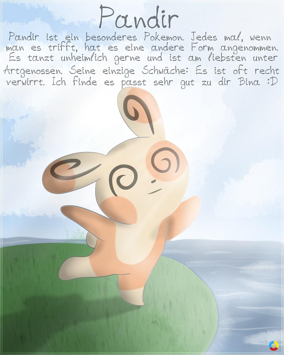 Pokémon-Zeichnung: Binas Pandir