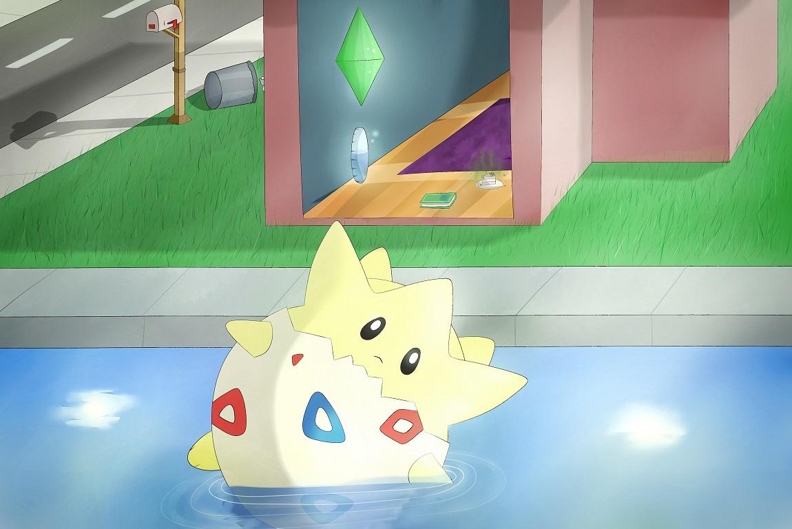 Pokémon-Zeichnung: Sims Togepi