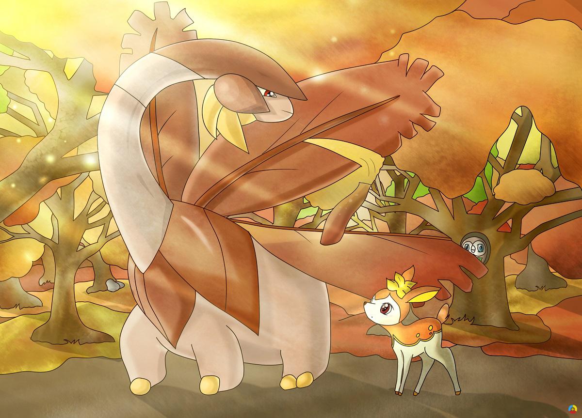 Pokémon-Zeichnung: Herbsti Herbsti Herbst