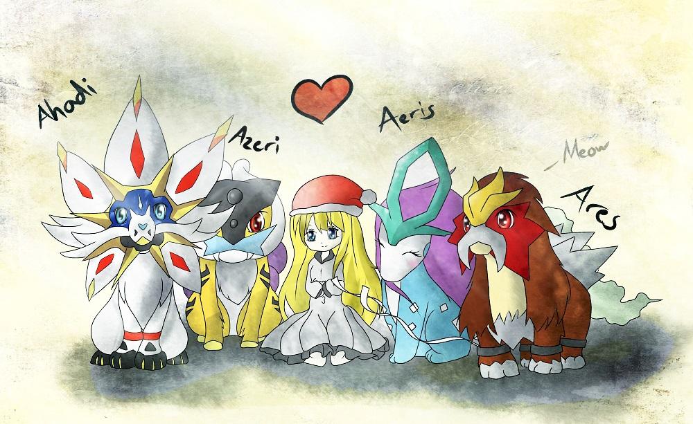 Pokémon-Zeichnung: Familienportrait