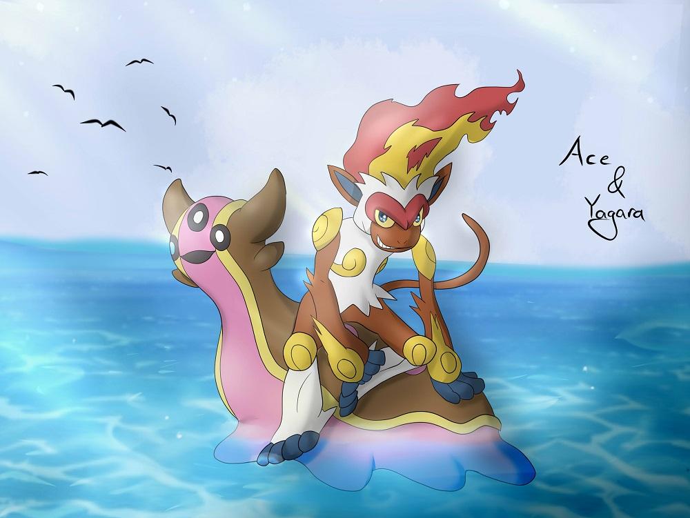 Pokémon-Zeichnung: Ace und Yagara