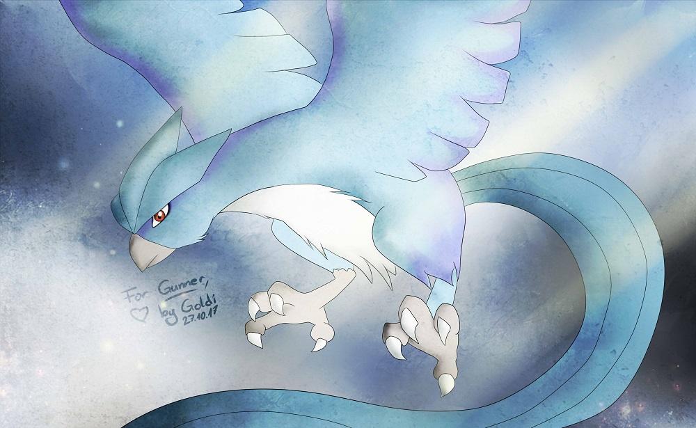 Pokémon-Zeichnung: Gunners Articuno