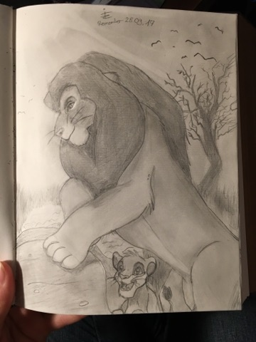 Pokémon-Zeichnung: Mufasa und Simba