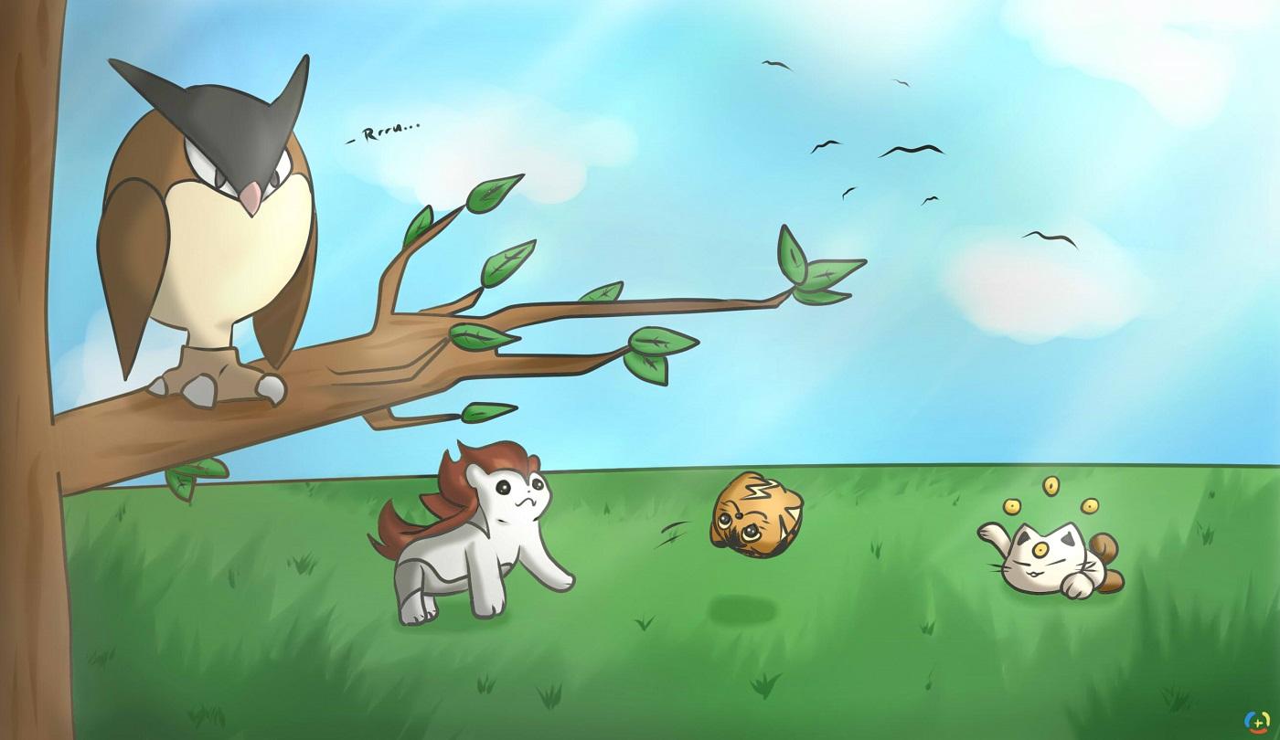 Pokémon-Zeichnung: Verworfene Pokemon