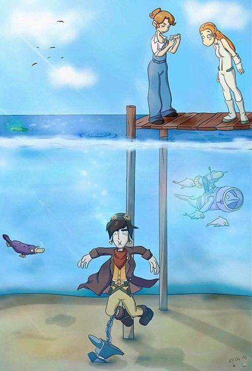 Pokémon-Zeichnung: Von der Zeichnerin, die Deponia gut findet