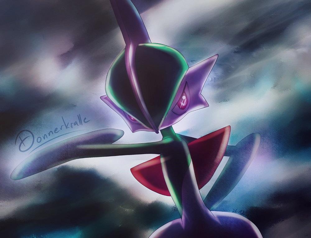 Pokémon-Zeichnung: Donnerkralles Galagladi