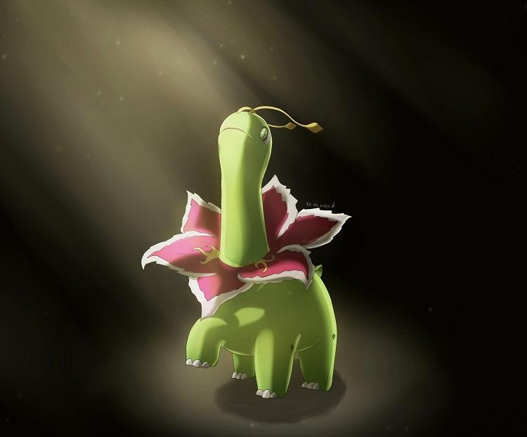 Pokémon-Zeichnung: Meganie im Licht II