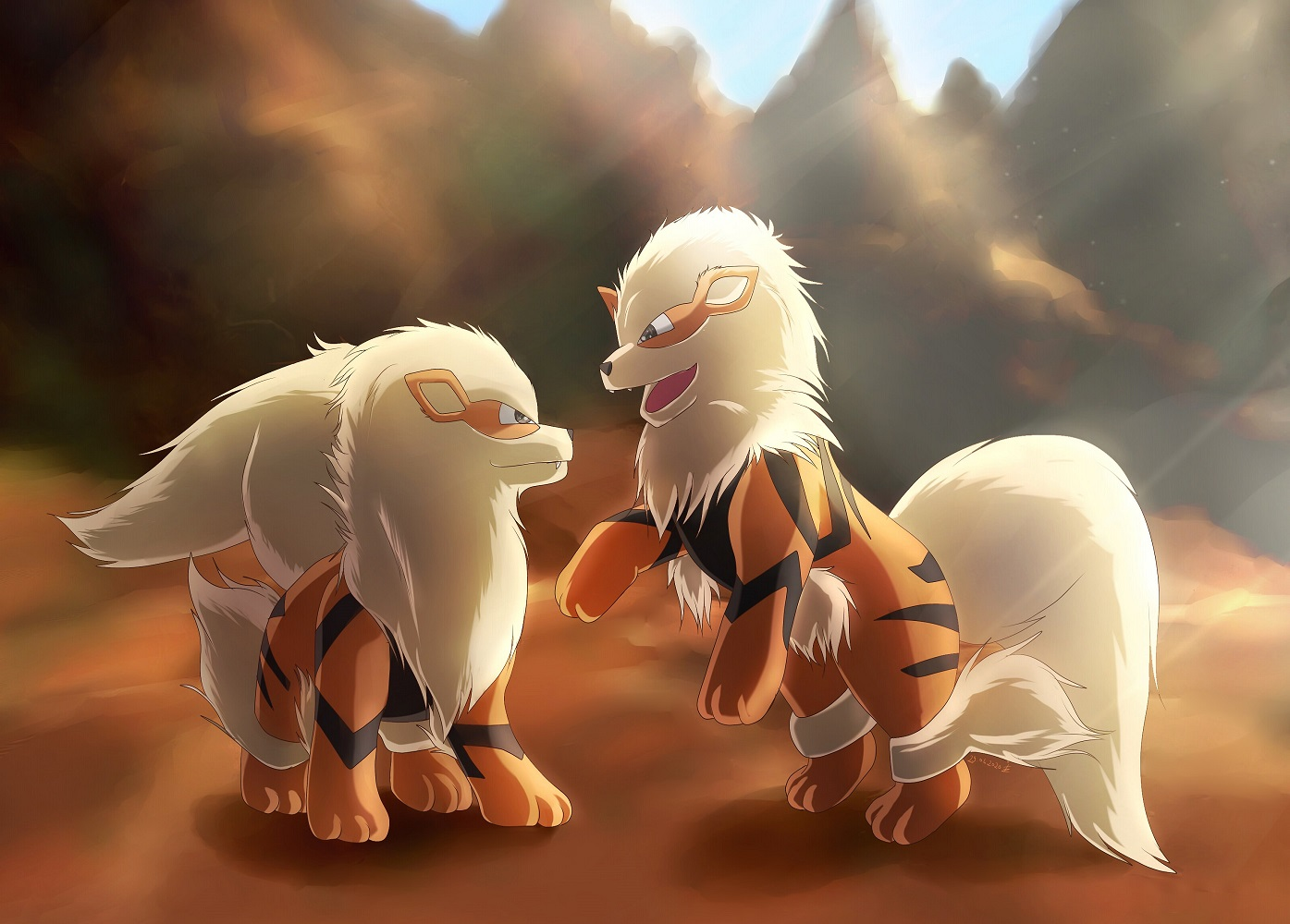 Pokémon-Zeichnung: Arkanis