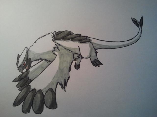 Pokémon-Zeichnung: Das mächtige AbsolLugia