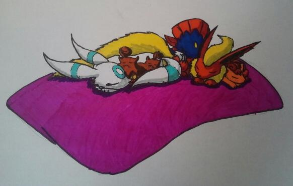 Pokémon-Zeichnung: Die Kuschelgruppe