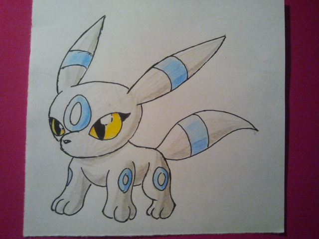 Pokémon-Zeichnung: Chibi White Umbreon