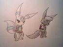 White Umbreon und Kuro mit Cosplay