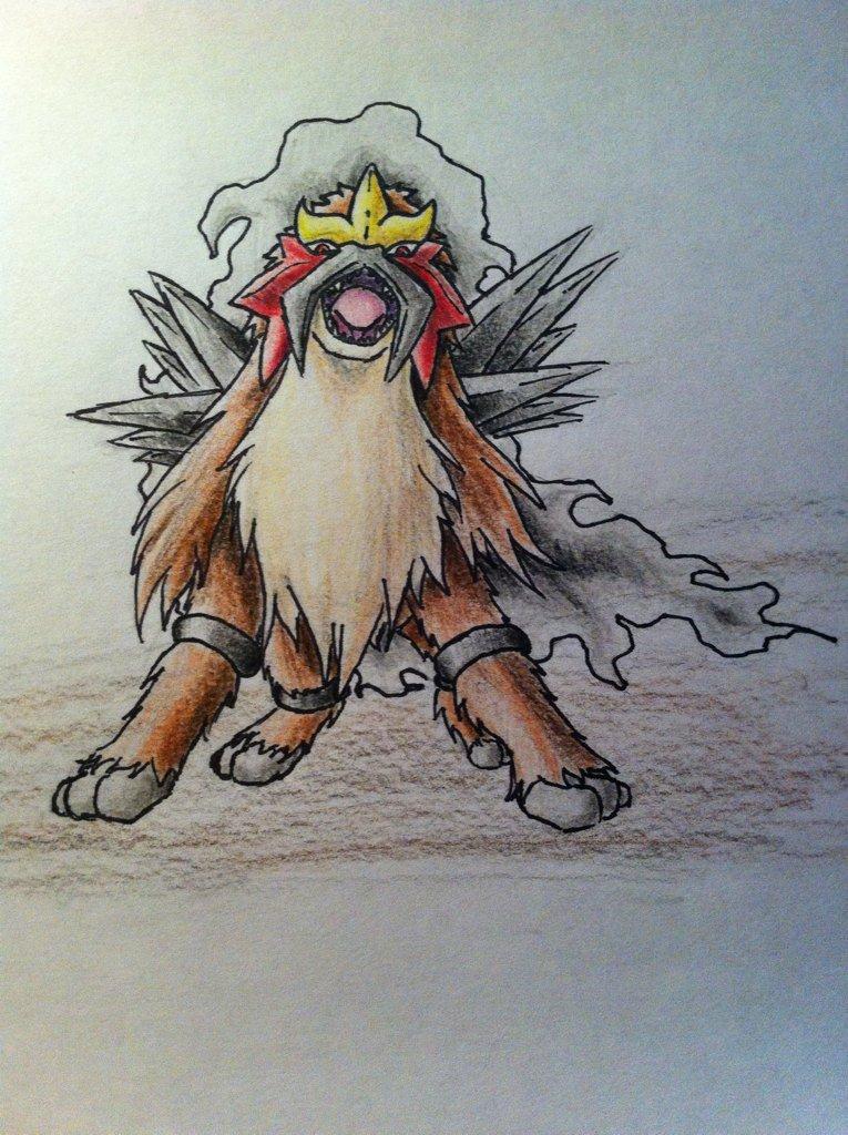Pokémon-Zeichnung: Entei