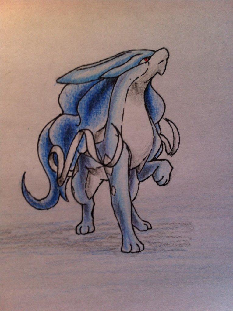 Pokémon-Zeichnung: Shiny Suicune