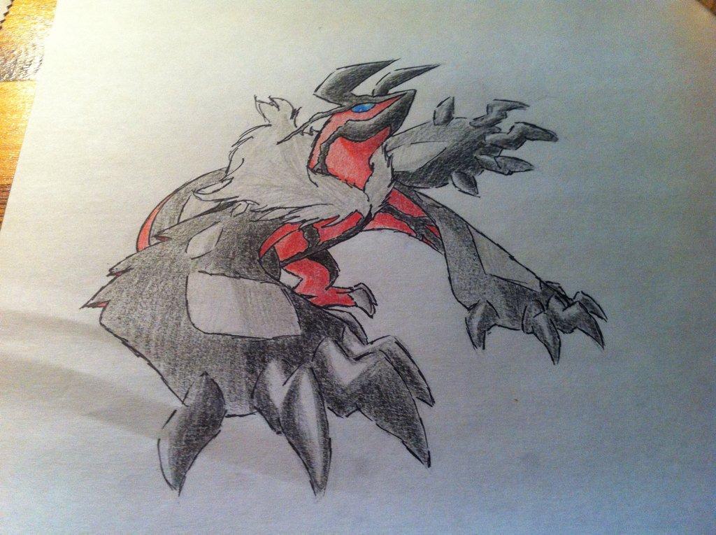 Pokémon-Zeichnung: Yveltal