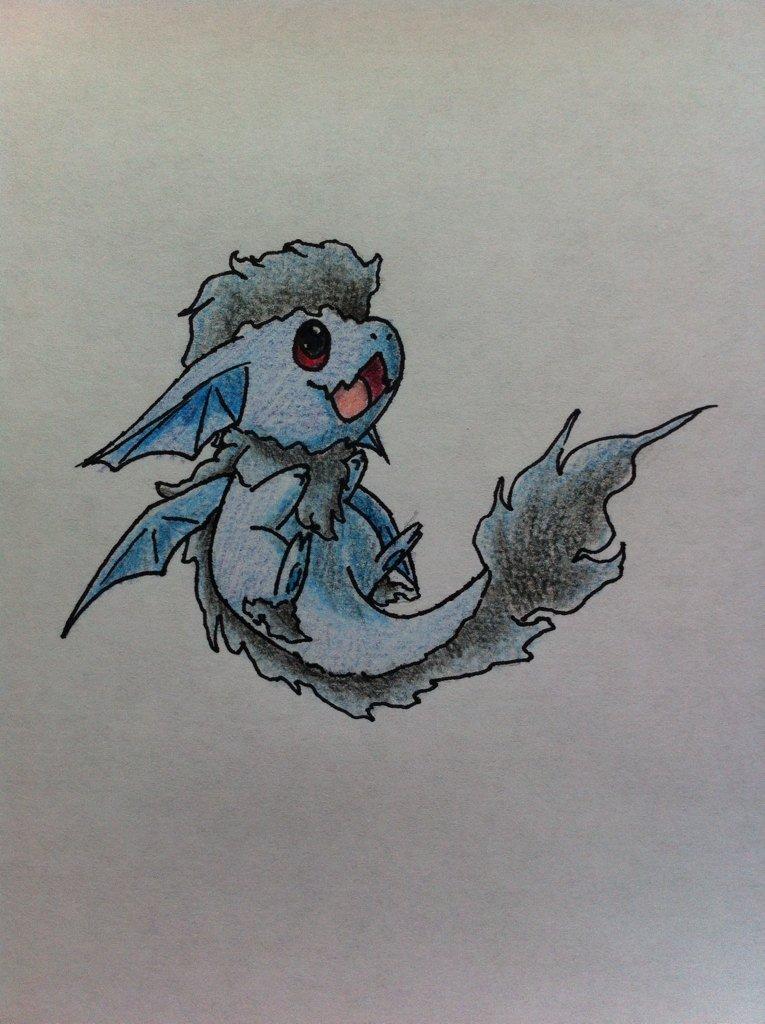 Pokémon-Zeichnung: Kleiner Wind Drache
