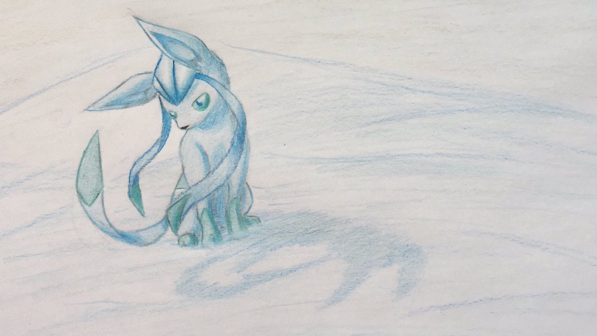 Pokémon-Zeichnung: Glaziola