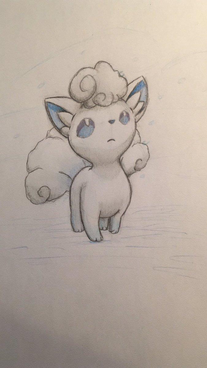 Pokémon-Zeichnung: Alola-Vulpix