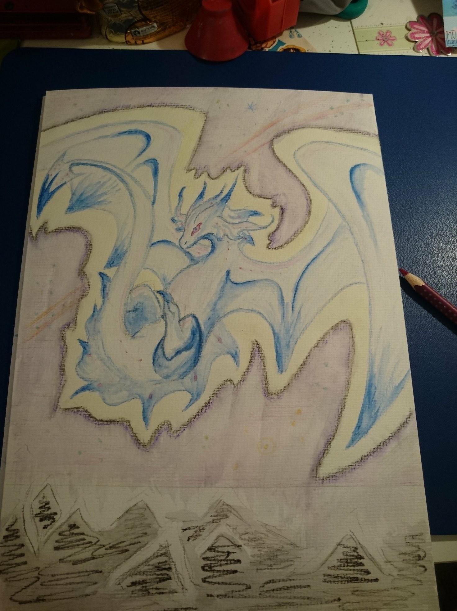 Pokémon-Zeichnung: Mondlicht Drache