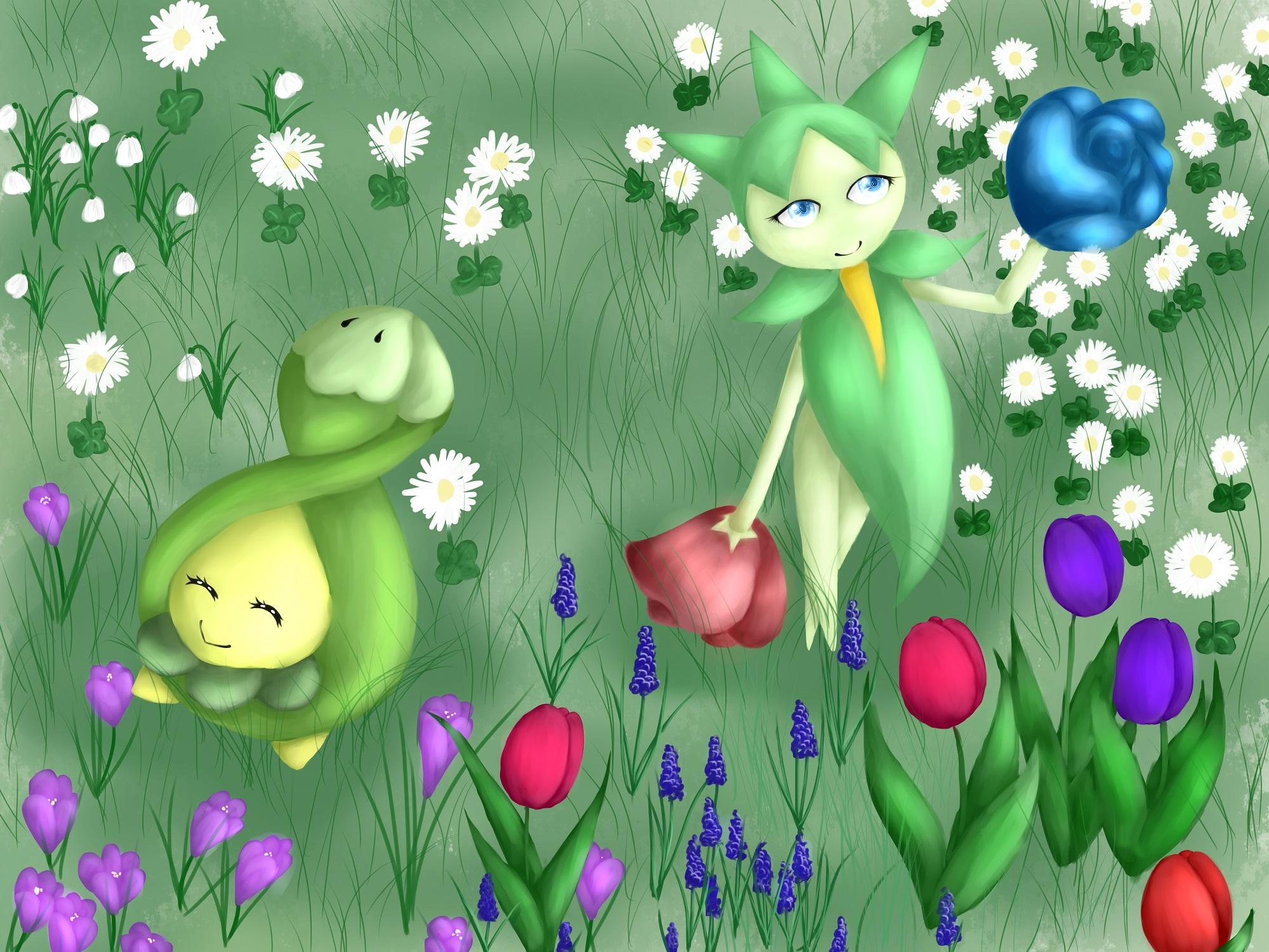 Pokémon-Zeichnung: Spring