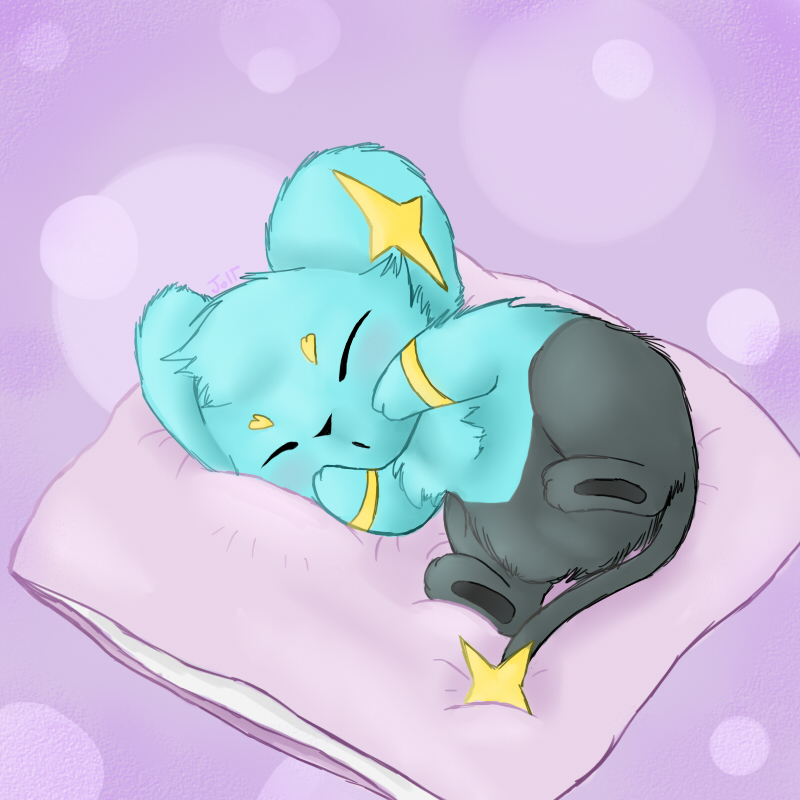 Pokémon-Zeichnung: Shh, Shinx is asleep!