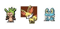 Pokémon-Sprite: Kalos Starter Sprites