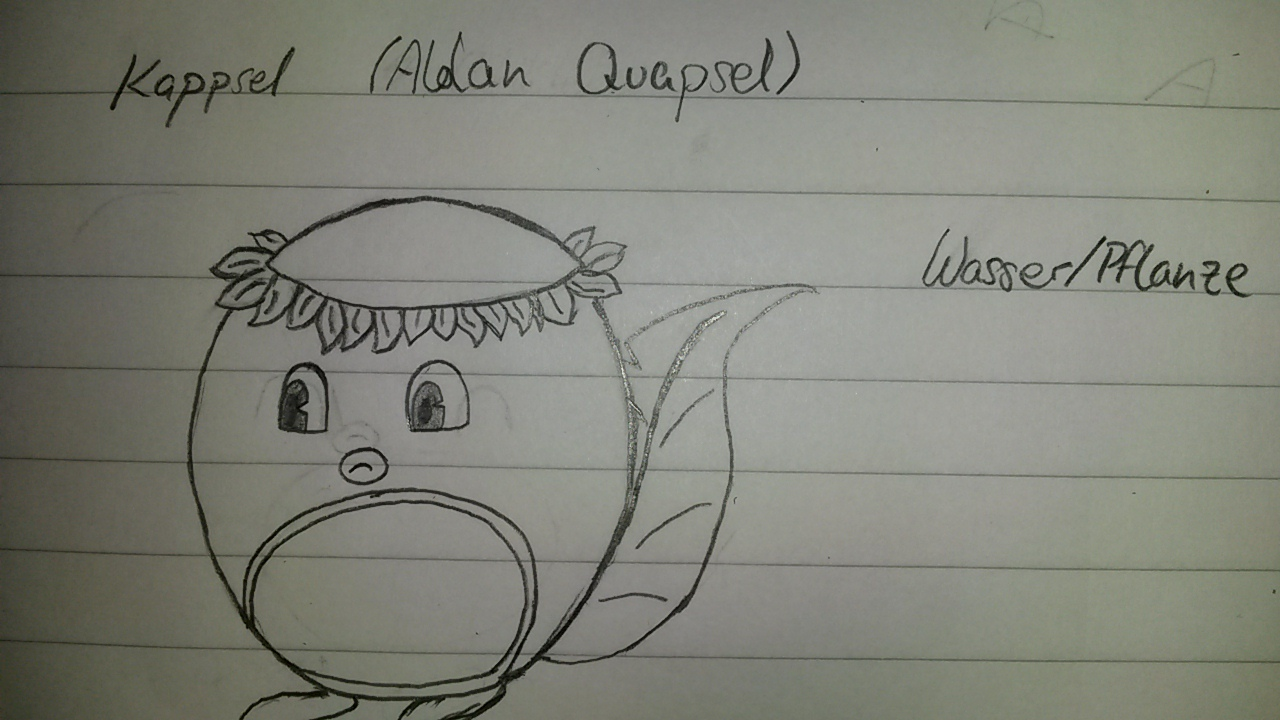 Pokémon-Zeichnung: Alolan Quapsel (Skizze)