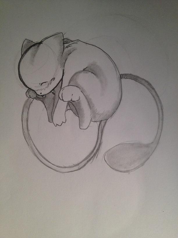 Pokémon-Zeichnung: Mew